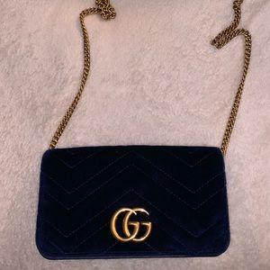 Gucci Marmont Velvet Wallet on Chain authentic